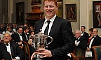 Kevin O'Brien Picks Up Walter Lawrence Trophy