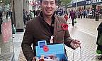 Graham Napier Joins Royal British Legion For 2012 Poppy Appeal