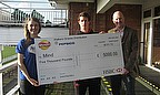 Boyce Receives £5,000 Cheque Following Epic Journey
