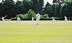Shot of club cricket in the UK