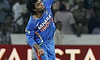 Jadeja bowls a ball for India