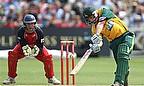 David Hussey batting against Lancashire.