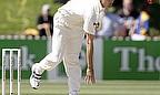 Chris Martin bowls for New Zealand