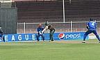 Kenyan batsman drives