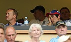 Looking on, Cook (hand on his face) is unable to hide his feeling as England faltered