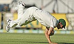 ...bad move, as he was well caught by Mitchell Johnson