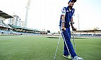The sight of Stuart Broad on crutches - he won't bowl again but may bat if required