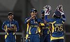 Sri Lanka Women celebrate a wicket