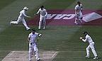 Kevin Pietersen made just three before falling to Ryan Harris