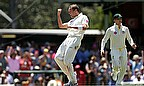 Peter Siddle celebrates the wicket of Ben Stokes, who top scored with 47