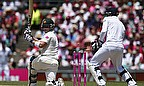 Scott Borthwick bowled Brad Haddin to pick up figures of three for 33