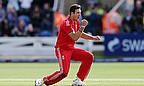 Steven Finn celebrates a wicket