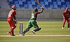 Alex Obanda hits a shot