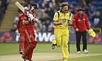 Shane Watson celebrates a wicket