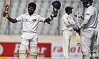 Kaushal Silva celebrates his century