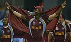Darren Sammy celebrates winning the ICC WT20