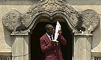 Darren Sammy with the WT20 trophy