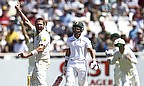 Ryan Harris appeals for a wicket