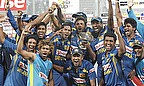 Sri Lanka celebrate their Asia Cup win