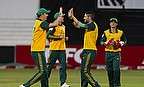 Kyle Abbott and Wayne Parnell celebrate