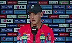 Stuart Broad talks to the media following England's defeat to New Zealand in Chittagong