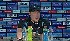 Martin Guptill talks to the media following New Zealand's defeat to South Africa