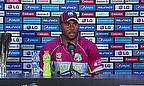 Dwayne Smith talks to the media following the West Indies' victory over Bangladesh