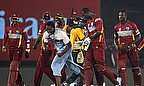West Indies celebrate their win against Australia