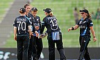 New Zealand Women celebrate a wicket