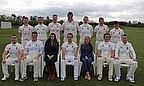 The Taunton CC team ahead of their first game of the season
