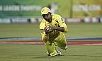 Suresh Raina takes a catch