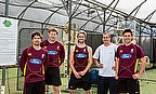 From left to right: Jono Boult (Northern Knights), James Pamment (Northern Knights Coach), Kane Williamson (Black Cap) , Ben Williams (Head Coach/Dire