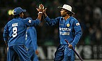 Sri Lanka celebrate their win over England