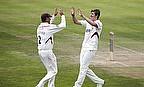 Somerset players celebrate