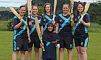 The seven Scotland Women are pictured at Stirling County Cricket Club