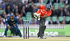 Michael Carberry hits a shot
