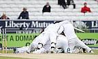 Sri Lankan players celebrate their win