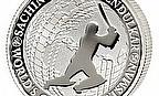 Reverse of a silver coin honouring Tendulkar