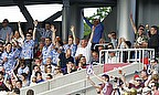 Yorkshire fans celebrate