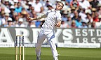 Ben Stokes bowls for England