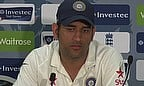MS Dhoni talks to the media