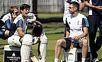 Alastair Cook at an England training session