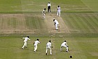 India players celebrate after dismissing Alastair Cook late on day four