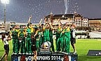 South Africa celebrate winning the Campus Cricket title