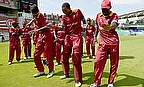 The West Indies celebrate after their semi-final win over Australia