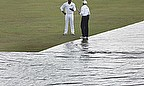 Sri Lanka's victory push was also held up by interruptions due to the rain