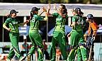 Ireland Women celebrate a wicket