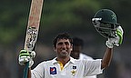 Younus Khan celebrates a century in Galle