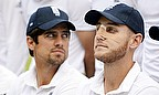 Alastair Cook (left) needs 120 runs to move into second place in England's all-time run-scoring list in Tests