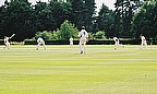 Action from club cricket
